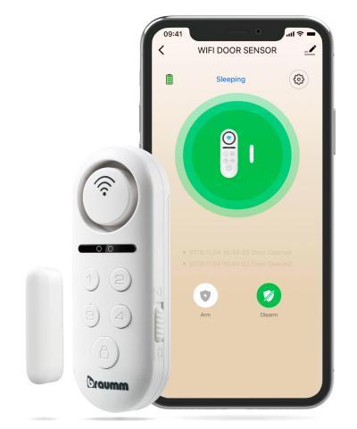 BRAUMM WiFi Door & Window Sensor Alarm